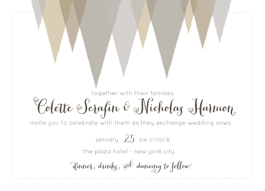 wedding invitations - Neutral Whimsy by Courtney Brady
