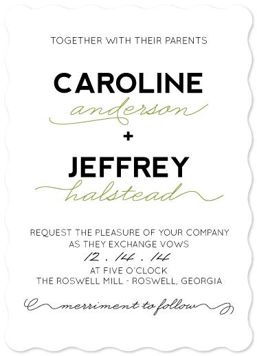 wedding invitations - Bold and Curvy by Courtney Brady
