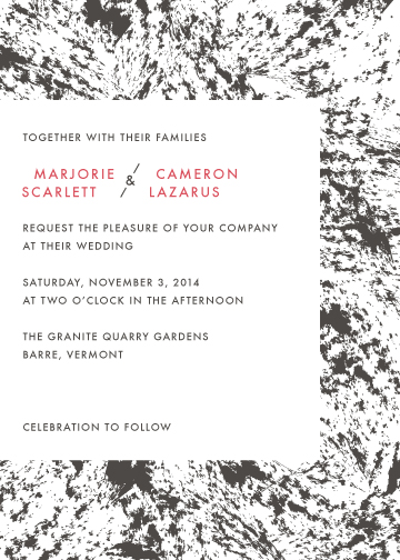 wedding invitations - Marble Union by French Braid Paper