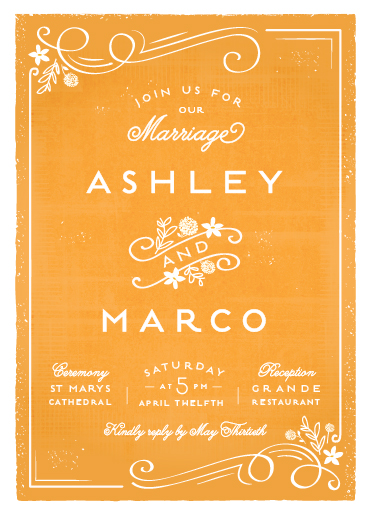wedding invitations - Tuscan by Lori Wemple