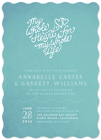 wedding invitations - My Whole Heart by Meredith Vance