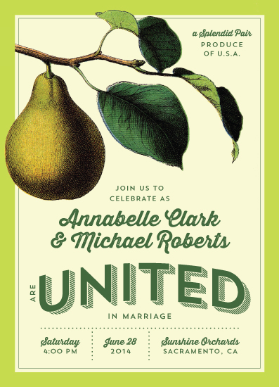 wedding invitations - Fruit Crate by Meredith Vance
