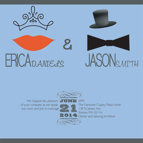 wedding invitations - King and Queen by Anna Cipollone