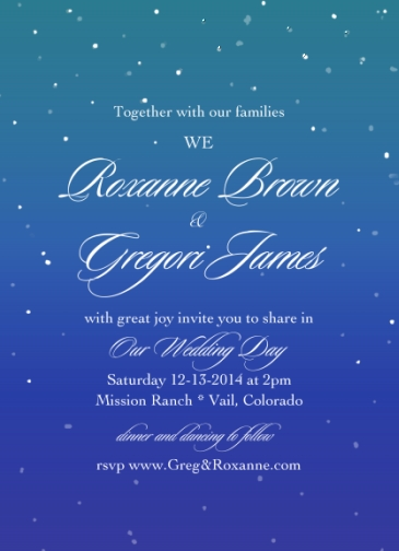 wedding invitations - Snowfall by Charis
