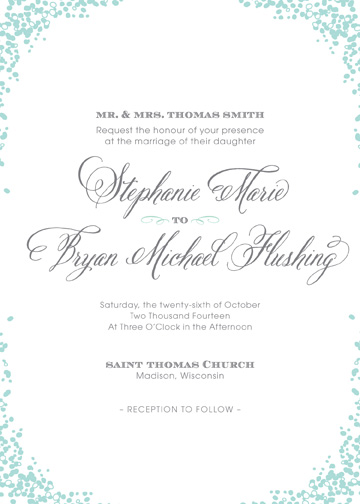 wedding invitations - Dotty Corner by CD