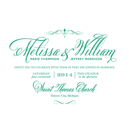 wedding invitations - Square Twist on Tradition by CD