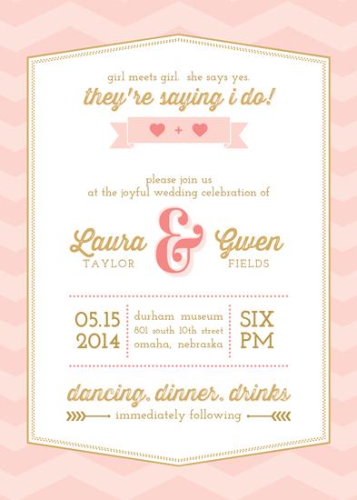 wedding invitations - girl meets girl by Amy Johnson