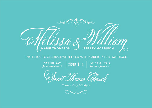 wedding invitations - Twist on Tradition by CD