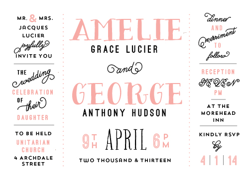 wedding invitations - April in Paris by Lori Wemple