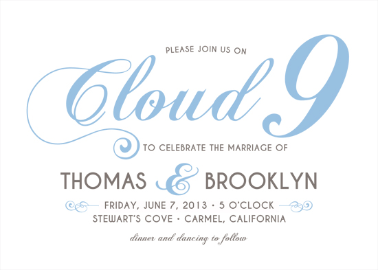 wedding invitations - Cloud 9 by Snickrdoodle
