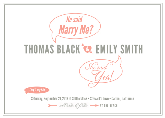 wedding invitations - He Said, She Said by Snickrdoodle