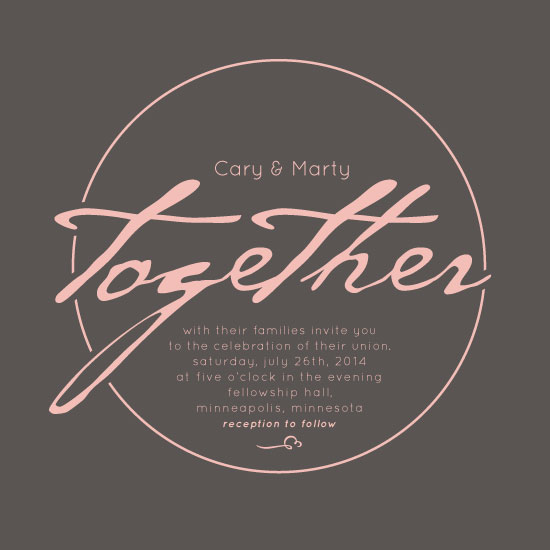 wedding invitations - Ring of togetherness by Cary Smith