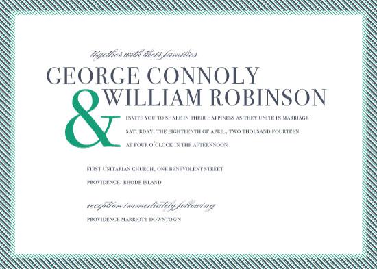 wedding invitations - Zippered Edge by Holly Hanna