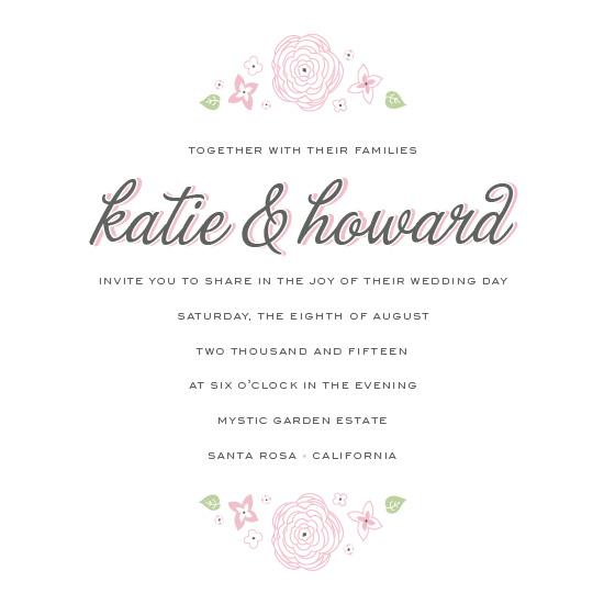 wedding invitations - Floral Garden Party by Karen Leung