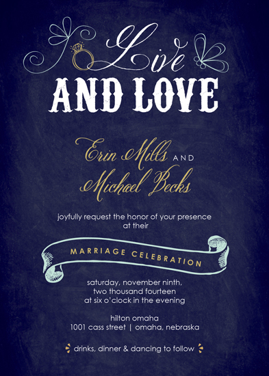 wedding invitations - Live and Love by Amy Johnson