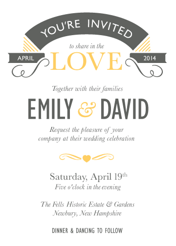 wedding invitations - All you need is love by Jane W
