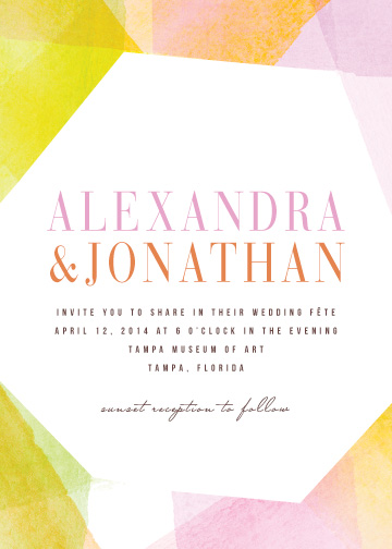 wedding invitations - Geometric Watercolor by Citrus Press Co.