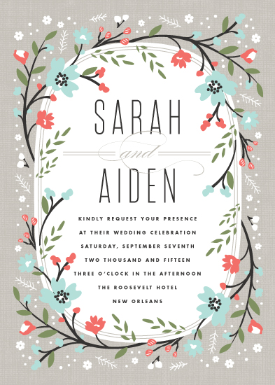 wedding invitations - Garden Frame by Kristie Kern