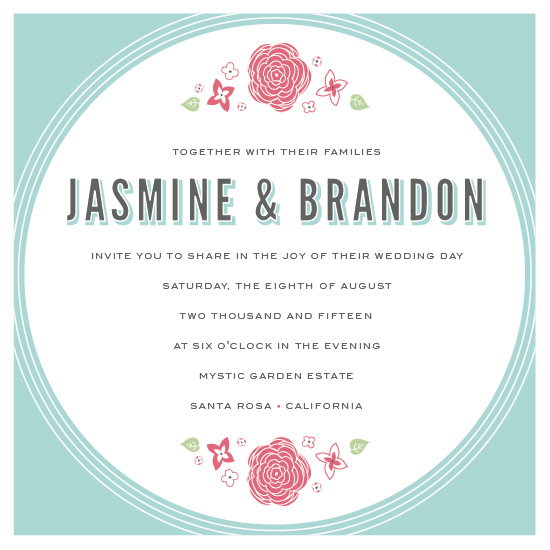 wedding invitations - Bold Florals Garden Party by Karen Leung
