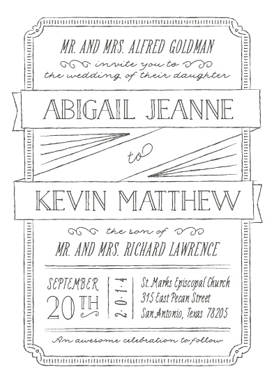 wedding invitations - Drawn to Each Other by Ann Gardner