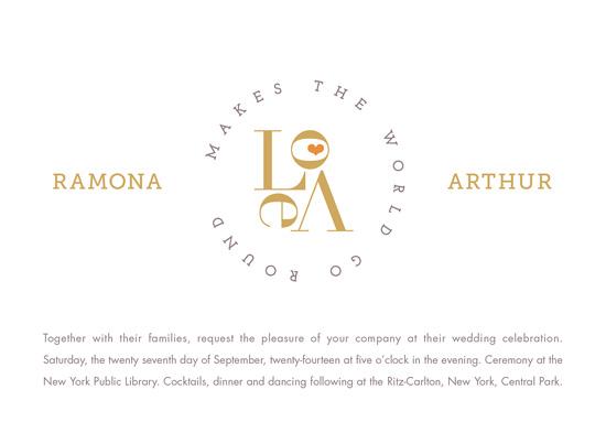 wedding invitations - all the love in the world by Carol Fazio