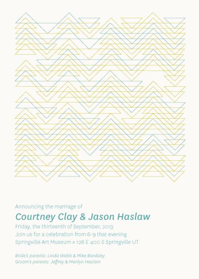 wedding invitations - Zig Zag Pattern by Kate Johnson