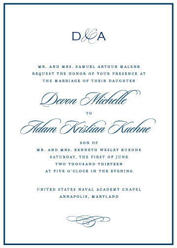wedding invitations - In the Navy by Olive and Violet