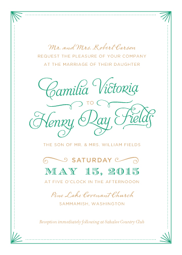 wedding invitations - Elegant Deco Border by Iwona K