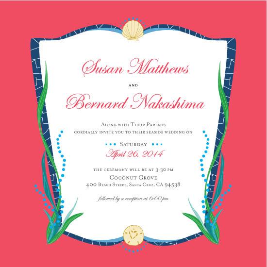 wedding invitations - Ocean Garden by EN Rault