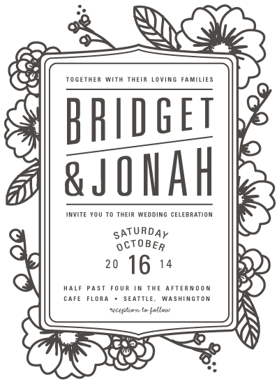 wedding invitations - Modern Botanicals by Natalie Nakai