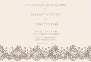 wedding invitations - Vintage Elegance by Me Amelia