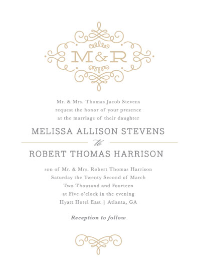 wedding invitations - Ornate Monogram by Kristen Smith