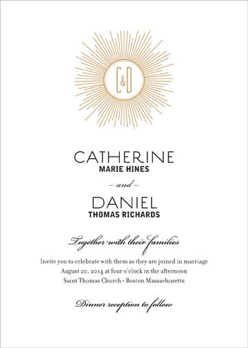 wedding invitations - Deco Monogram by CD