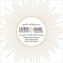 wedding invitations - Deco Burst by CD