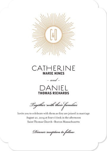 wedding invitations - Deco Monogram by CD