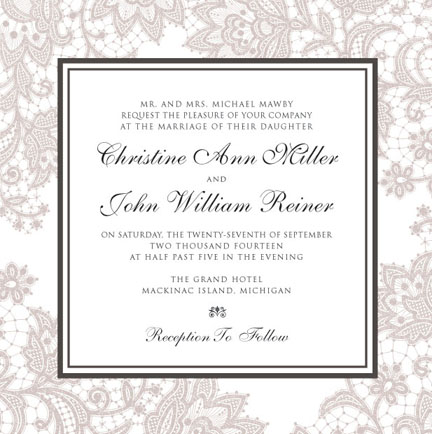 wedding invitations - Lovely Lace by Corinna Beau Letterpress