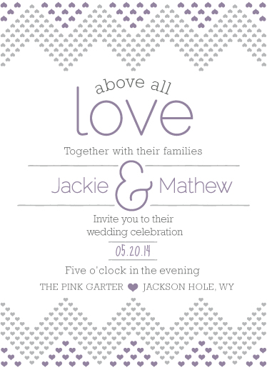 wedding invitations - Chevron Love by Jane W