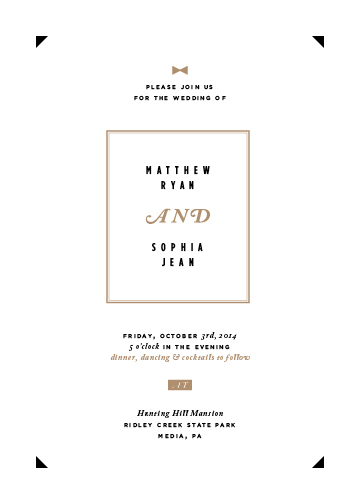 wedding invitations - Black Tie by Elysse Ricci