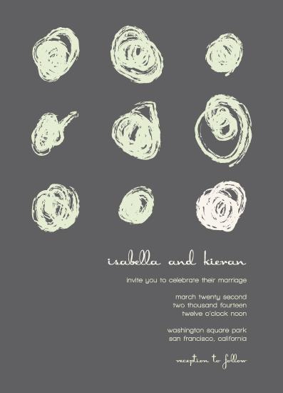 wedding invitations - ink blot dot by Jess Midden