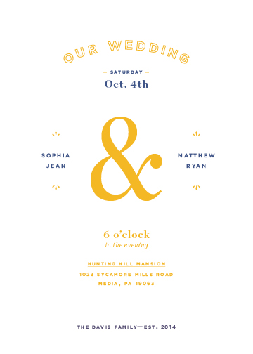 wedding invitations - Him Ampersand Her Letterpress by Elysse Ricci
