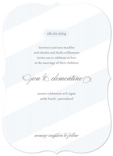 wedding invitations - summer whites by gracegraceface