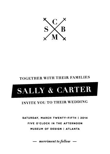 wedding invitations - Elementary Askew by Sydney Newsom