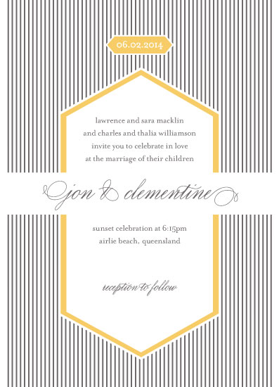 wedding invitations - deco stripes by gracegraceface