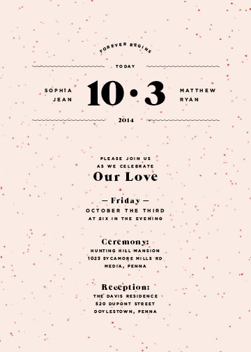 wedding invitations - Our Modern Love by Elysse Ricci