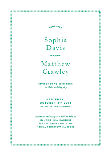 wedding invitations - The Together Type by Elysse Ricci