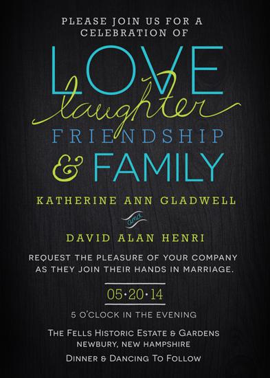 wedding invitations - Dark & Lovely by Jane W