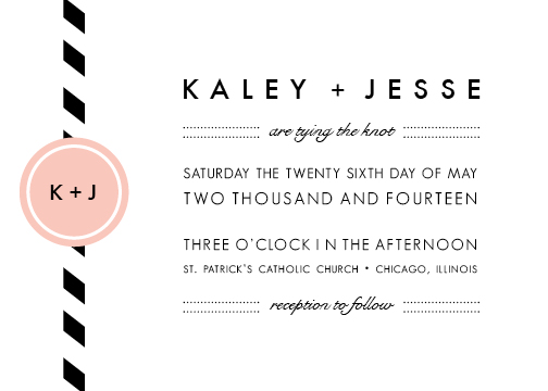 wedding invitations - modern love by meant to be sent