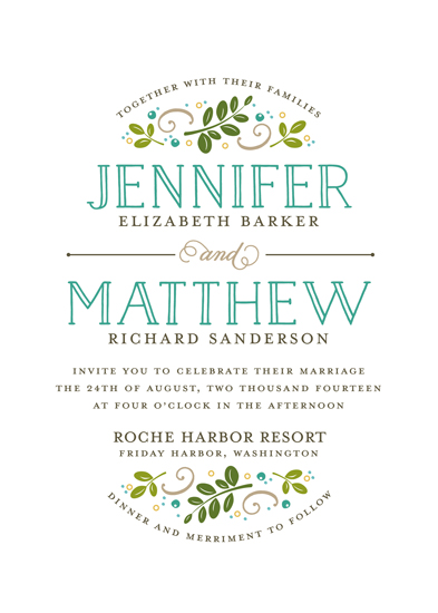 wedding invitations - Botanical by Jessica Williams