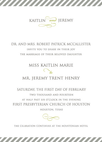 wedding invitations - Chic Bias Striped by Karen Thomas