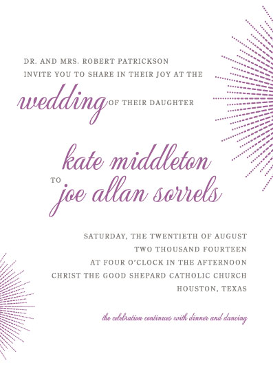 wedding invitations - Bursting with Joy by Karen Thomas